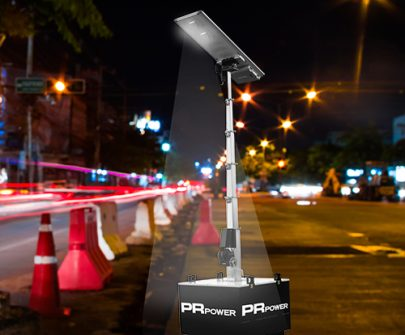 Latest News article to introduce the PR-POLE Solar Lighting Tower